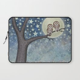 northern saw whet owls under the stars Laptop Sleeve