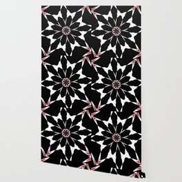 Bizarre Red Black and White Pattern 4 Wallpaper