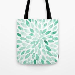 Watercolor brush strokes - aqua Tote Bag
