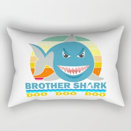 Brother Shark Gift for Toddlers and Boys Rectangular Pillow