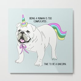 Uniforn bulldog Metal Print