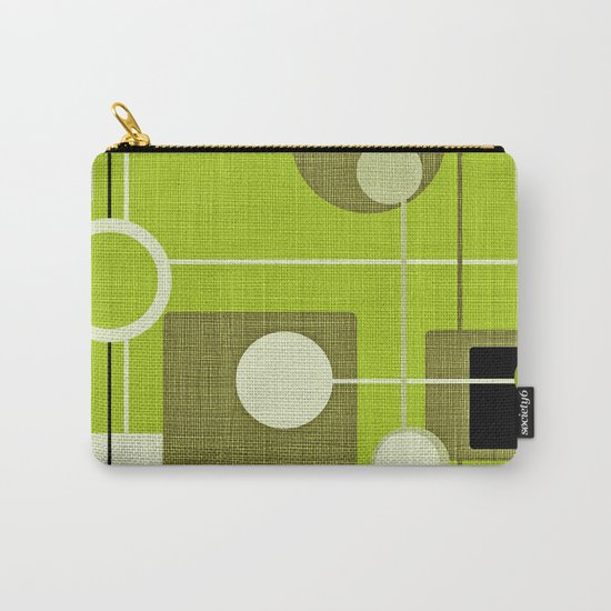 orbs and squares acid green Carry-All Pouch