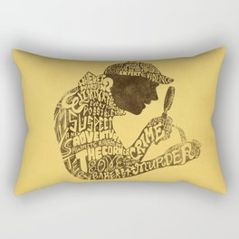 Man of Many Words Rectangular Pillow
