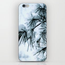 Snow Laden Pine - A Winter Image iPhone Skin