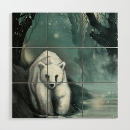 Spirit Bear Wood Wall Art