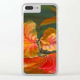 Autumn Whirl Clear iPhone Case