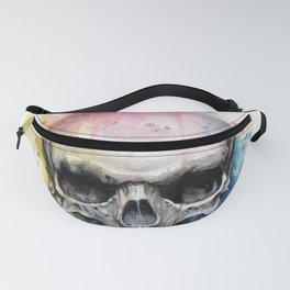 Skull Rainbow Watercolor Fanny Pack