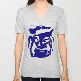 face3 blue Unisex V-Neck