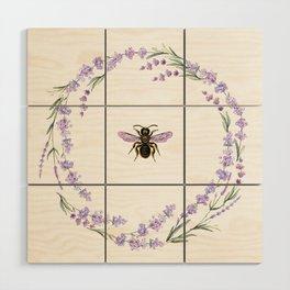 Lavender Bee Wood Wall Art