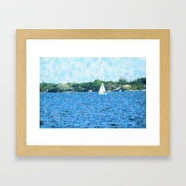 A Sunday Sail Framed Art Print