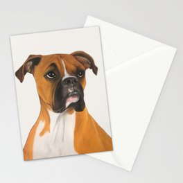 Buster Boxer Dog Stationery Cards