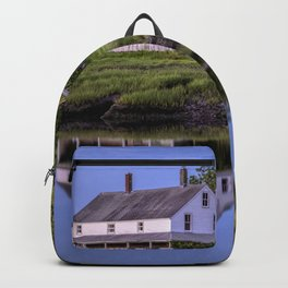 Essex river house reflection Backpack
