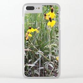 Upright Prairie Coneflower Clear iPhone Case
