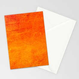 Orange Sunset Textured Acrylic Painting Stationery Cards