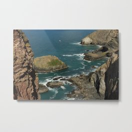 Cornish Seascape St Agnes  Metal Print