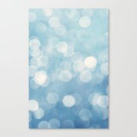 bokeh Canvas Prints featuring bokeh by Claudia Drossert
