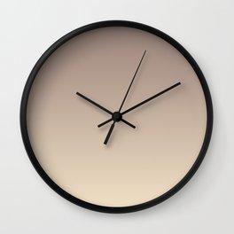 Gradient  beige, brown. Wall Clock