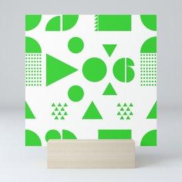 BLOCK PARTY IN NEON GREEN Mini Art Print