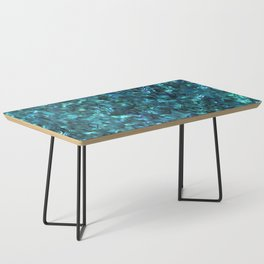 Abalone Shell | Paua Shell | Cyan Blue Tint Coffee Table
