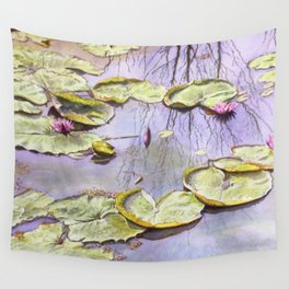 Reflection, watercolor Wall Tapestry