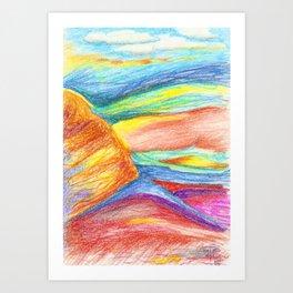 landscape or something else Art Print