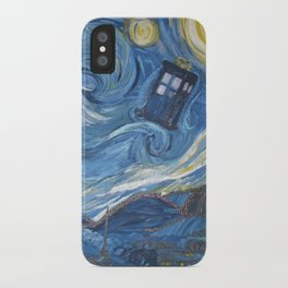 Starry Night in the TARDIS 2.0 iPhone Case
