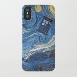 Starry Night in the TARDIS 2.0 iPhone Case