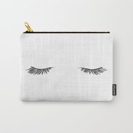 Closed eyes illustration - Lashes Carry-All Pouch