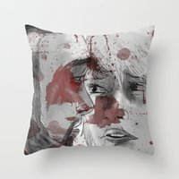 dead space Throw Pillows featuring DEAD SPACE by Miss Kicks