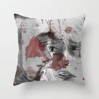 dead space Throw Pillows featuring DEAD SPACE by Miss Kicks