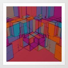 Cube Geometric I Art Print