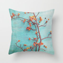 She Hung Her Dreams on Branches Throw Pillow