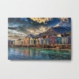 Riverside Innsbruck, Austria Photographic Metal Print