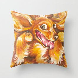 It tickles Throw Pillow