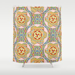 Gypsy Boho Chic Hexagons Shower Curtain
