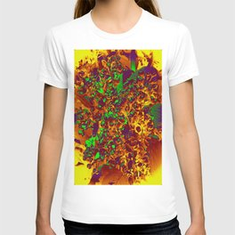 Floral Abstraction in brown T-shirt