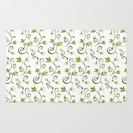 Ditzy Green Floral Rug