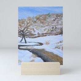 Winterscape 2020 Oil Painting Art Print Mini Art Print