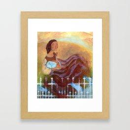 Blue Howl Framed Art Print