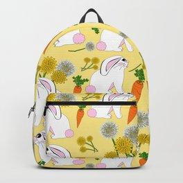 Rabbit Food Bunnies Carrots Dandelions Backpack