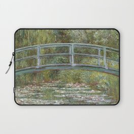 Water Lily Pond (Japanese Bridge) Laptop Sleeve