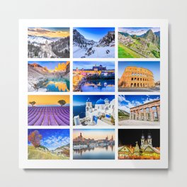 World travel collage Metal Print