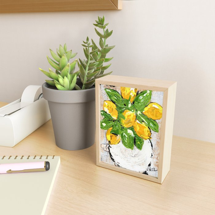 Lemon Day Framed Mini Art Print