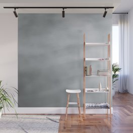 Elegant modern abstract faux silver gradient Wall Mural