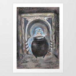 Through The Stone Archway Magic Breaths  Art Print