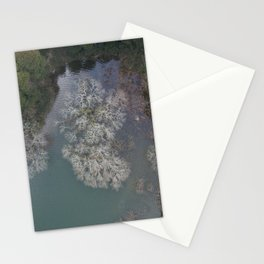 Lakeside trees Stationery Cards