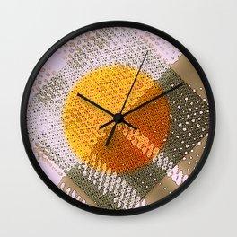 Orange Plaid Wall Clock