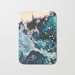 BUBBLEGUM GALAXY | Acrylic fluid art by Natalie Burnett Art Bath Mat