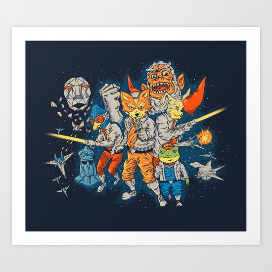 Fox Team Art Print