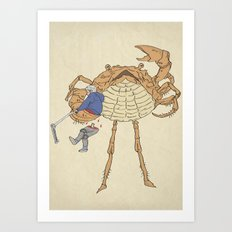SCALLY CRAB Art Print
